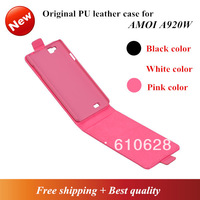 Free shipping original  PU Leather case Cover For AMOI A920W mobile phone