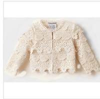 2014 Hot Sale Solid Casual Child Spiderman Casaco Infantil Wholesale New Models Fall Girls Lace Coat Autumn 5pcs/lot D071212