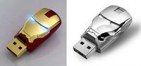 Wholesale Hot sale Fashion Avengers Iron Man LED Flash 8GB 16GB 32GB USB Flash 2.0 Memory Drive Stick Pen/Thumb/Car