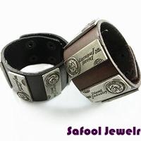 VB055(Min.Order $15)Wholesale 2014 Men Women Bracelets Punk Style Vintage Leather Bracelet Wide Bracelet Gifts High Quality