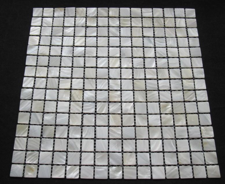 Witte Mozaiek Tegels Keuken : White Mother of Pearl Mosaic Tile Shower