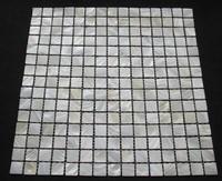 white mosaic tile shower Mother of pearl tile kitchen backsplash natural white mop shell mosaic tile