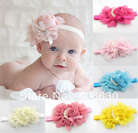 2013  Beautiful Headbands hairband Baby Girls flowers headbands,kids' hair accessories Baby Christmas gift