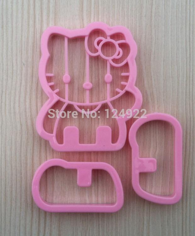 Frete grátis ferramentas de decoração do bolo, Forma Gatinho NOVO Rosa 3D Sugarcraft do cortador Ferramentas Mold DIY(China (Mainland))