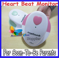 2Pcs/lot Freeshipp!! CE Approved Angel Sound Fetal Doppler Record Baby's Heartbeat Heart Rate Monitor Hiccups Or Movements On CD
