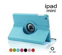 Fedex Free shipping wholesale 100pcs/lot 11 Colour 360 Degrees Rtating case For IPAD MINI Leather screen protector stylus pen
