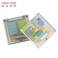 Colour zone opsoning two-color eye shadow multicolor bare makeup