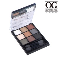 Og make-up pearl eye shadow plate box durable waterproof non diseoloutation smoked makeup bare color the earth