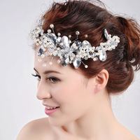 Crown luxury bow hair accessories jewelry for hair 2013 popular bridal jewelry white hair for wedding free shipping