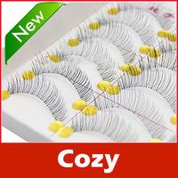 New Arrive: 10 Pairs Handmade Fake False Eyelash Natural Look Transparent Stem 217 free shipping