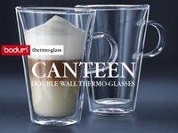 Bodum Canteen Double Wall Glasses coffee or tea mug/cup 13 Ounce, Set of 2(Original) ,Free shipping