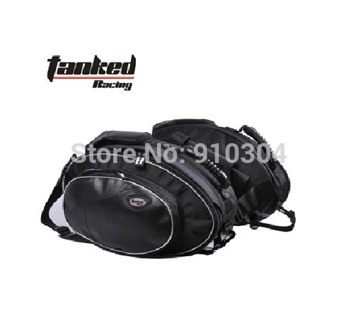 Tanked Racing TMB08 motorcycle Side bags luggage motorbike helmet bags Saddle bag made of Oxford cloth(China (Mainland))