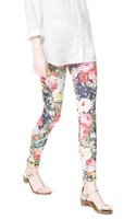 The Newest Autumn Women's Floral And Geometric Pattern Print Slim Elastic Waist Leggings,Ladies Fashion Comfortable Pants kz25