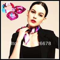 free shipping 2013 new style fashion lady's 50x50 small faux silk scarf and kerchief and silk pocket squares