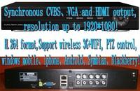 4Ch Hybrid DVR D1 4 Ch Real-time Full D1 H.264 Standalone CCTV DVR Recorder 4CH Audio  PTZ control  HDMI Output 3G&WIFI