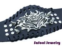 VB071(Min.Order $15)Wholesale 2013 Men Women Bracelets Punk Style Vintage Leather Bracelet Bat Bracelet Gifts High Quality