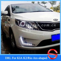 CAR-Specific KIA K2/Rio 2011 2012 Arc-shaped LED DRL,Daytime Running Light + Free Shipping By EMS