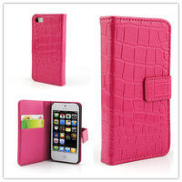 Fashion Lady Girls PU Leather Card Holder Pouch Flip Case Cover for iPhone 5 5G free shipping