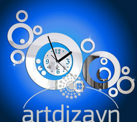 Min order 15 usd ( Mix items )2013 new decorative mirror wall clock contemporary style rounds rings FREE SHIPPING 40x60CM