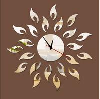 Min order 15 usd ( Mix items )unique gift alarm desktop clocks novelty households home decor mirror sun vintage wall  clock