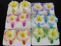 12PCS 6Color Hawaiian Plumeria Flower Foam Hair Clip New Fashion Hair Accessory