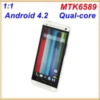 Free shipping MTK6589  ONE M7 Smart Phone Real Quad Core 3G WCDMA 1G ram In stock