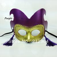 Free Shipping Vintage Luxury  PVC Tassel Dancing Party Masks