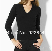 Summer Sales Brand polo  women v neck full long sleeve cashmere  outerwear sweaters 3colors Pullover Jumpers