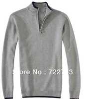 Wholesale men's polo Sweater Half Zip Brand Long Sleeve Sweaters for Men Vest Fashion  Drop Shipping
