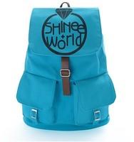 SHINEE SHW BLUE CANVAS SCHOOL BAG BACKPACK NEW