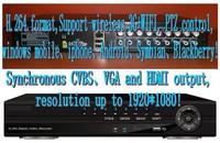 8Ch Hybrid DVR D1 8 Ch Real-time Full D1 H.264 Standalone CCTV DVR Recorder 8CH Audio PTZ  VGA& HDMI Output  Wireless 3G&WIFI