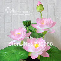 simulation flowers artificial silk flowers false lotus beam The lotus pond lily 7 color