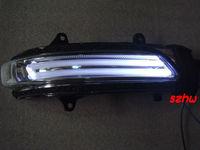 LED Dedicated rear-view mirror lights, Positon Guide light Lamp + Turn Signal light+Foot lamp for Lander Cruiser Prado FJ200