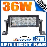NEW! 2PCS FREE SHIPPING 7.5INCH 36W LED WORK LIGHT BAR SPOT BEAM DRIVING OFFROAD BAR 4X4 LIGHTS