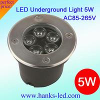 Free shipping,20 PCS/Lot IP67 Epistar High Power LED underground lamp 5W AC85V-265V buried light/inground lamp