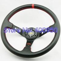 14 inch OMP PVC Steering Wheel Deep Dish Racing Auto Punching PVC Steering Wheel