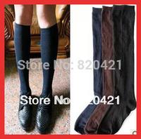 10PCS=5 pairs Classic solid color white blue knee leg warmers halloween knee-high cotton school uniform socks 39, 40