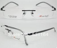 eyeglass frame , 2013 new carbon fibre design , rimless style for MAN, FREE SHIPPING