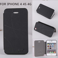 Original JR brand leather case cover for iphone 4 4g 4s, fation style ,6 colors for you chose,free shipping