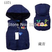 vest kids Boys girls down vest cartoon waistcoats children vest pink 4 color black 4pcs/lot