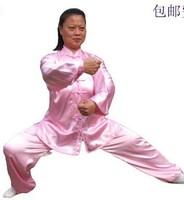 kung fu uniform Tai chi clothes martial arts clothes performance wear unisex leotard kung fu shirt set Pink