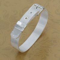 Free Shipping Wholesale 925 silver bracelet, 925 silver fashion jewelry Small Web Watch Belt Bracelet H237