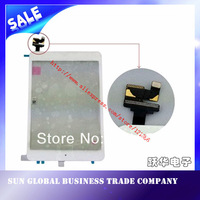 White color Original For ipad mini touch screen /touch panel / digitizer with home button assembly