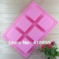 100% food grade silicone new silicacone cake tools / mold big / Soap die / 6 Square lattice