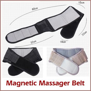 Magnetic Slimming Massager Belt Lower Back Support Waist Lumbar Brace Belt Strap Backache Pain Relief Health Care