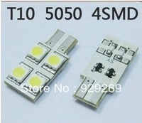 Free shipping T10 0.6W 60-70LM 4-LED 5050 SMD LED Car Turning Signal Light Bulbs (12V/Pair)