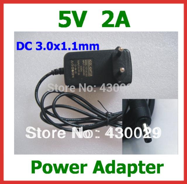 fonte de alimentação 5v 2a dc 3.0x1.1mm carregador ac adapter ue eua fich