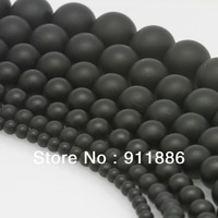 Free Shipping,4mm 6mm 8mm 10mm 12mm Black Matte Frosted Onyx Agate Loose Stone Spacer Finding Beads For Jewelry Making Wholesale