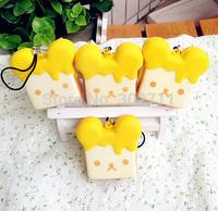 20pcs Free Shipping!!!NEW Cute Cartoon SAN-X Rilakkua Honey Toast Squishy Charm/Key Chain /Wholesales