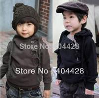 317# Wholesales 2color 5pcs/lot FUR/No FUR 90-130 cm children winter hoody free shipping
